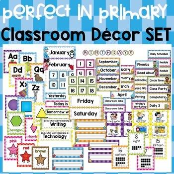 Perfect in Primary Classroom Decor Set