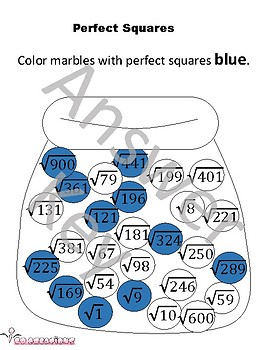 Perfect square marble sort