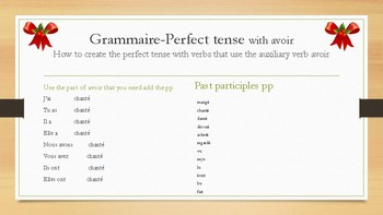 Perfect tense-12 days of Christmas