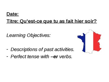 Perfect tense / Activities in the past