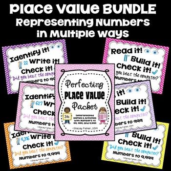 Perfecting Place Value and Identifying or Building Numbers in Base Ten BUNDLE