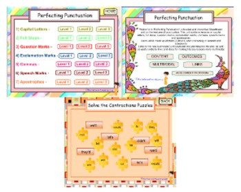 Literacy Unit 'Perfecting Punctuation' For Smartboard Whiteboard/Interactive