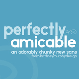 Perfectly Amicable Font for Commercial Use