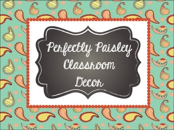 Classroom Decor: Perfectly Paisley