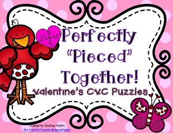 Perfectly Pieced Together - Valentine's CVC Heart Puzzles