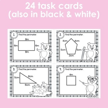 Perimeter Task Cards (Scoot Game)