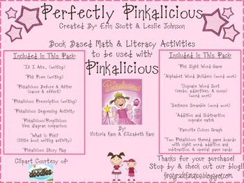Perfectly Pinkalicious (Book Based Math & Literacy Activities)