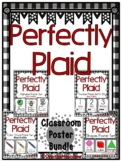 Perfectly Plaid | Black & White | Classroom Décor Poster Bundle