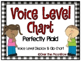 Perfectly Plaid | Black & White | Classroom Voice Level Di
