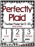 Perfectly Plaid | Black & White | Number Poster Set