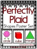 Perfectly Plaid | Black & White | Shapes Poster Set