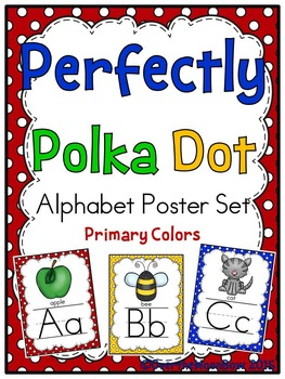 Perfectly Polka Dot -Primary Colors- Alphabet Display Poster Set