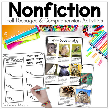 Perfectly Primary Nonfiction Articles and Close Reading - FALL EDITION