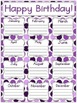 Perfectly Purple Birthday Posters