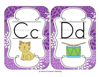Perfectly Purple Blossoms Alphabet Cards