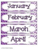Perfectly Purple Blossoms Calendar Numbers, Months and Days