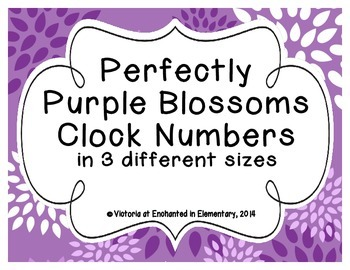 Perfectly Purple Blossoms Clock Numbers