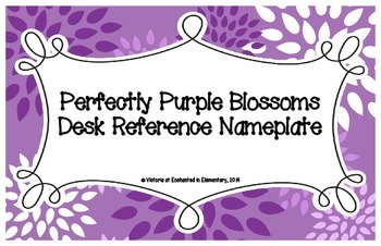 Perfectly Purple Blossoms Desk Reference Nameplates