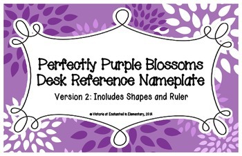 Perfectly Purple Blossoms Desk Reference Nameplates Version 2