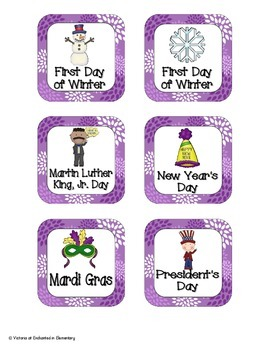 Perfectly Purple Blossoms Holiday Calendar Pieces