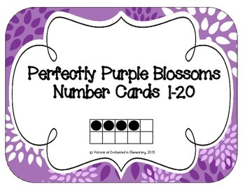 Perfectly Purple Blossoms Number Cards 1-20
