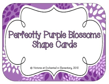 Perfectly Purple Blossoms Shape Cards