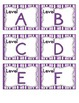 Perfectly Purple Leveled Reader Labels