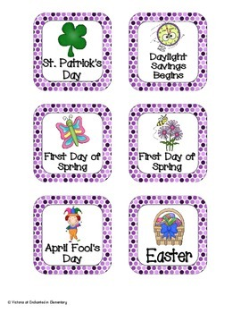 Perfectly Purple Polka Dot Holiday Calendar Pieces