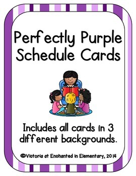 Perfectly Purple Schedule Cards