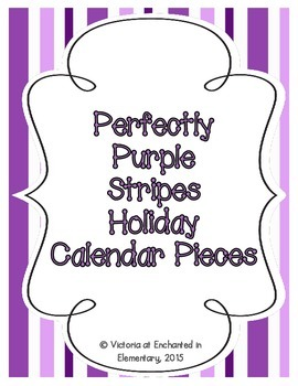Perfectly Purple Stripes Holiday Calendar Pieces