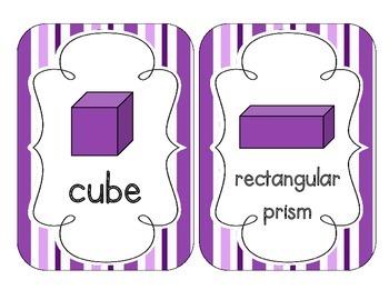 Perfectly Purple Stripes Shape Cards