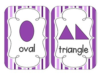 Perfectly Purple Stripes Shape Cards