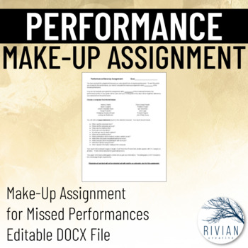 Performance Alternative Assignment EDITABLE