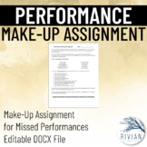 Performance Alternative Make-Up Assignment EDITABLE