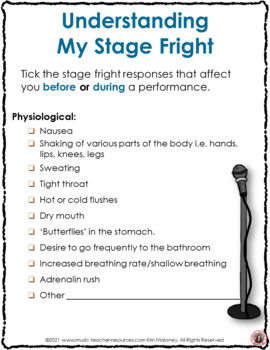 Music Activities: Dealing with Stage Fright - Performance Anxiety