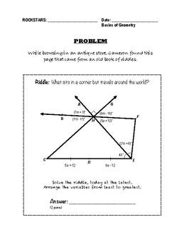 Geometry Performance Assessment - Basics of Geometry
