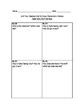 Performance Assessment: Characters