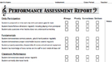 Performance Assessment Evaluation Form (percussion)