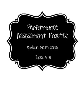 enVision Math Performance Assessment Reviews Topics 5-8 Grade 2