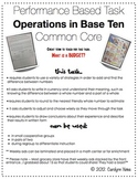 Performance Based Math Task Operations in Base Ten