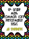 Math Constructed Response Tasks for 4th Grade Common Core with Rubrics