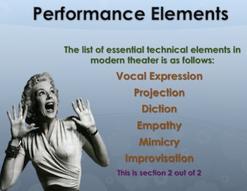 Performance Elements in Drama (Section 2 of 2)