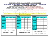 Performance Evaluation Score Sheet!