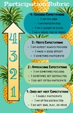 Performance Participation Rubric - Pineapple Theme