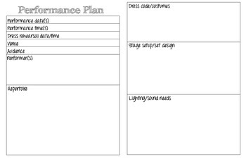 Concert and Performance Planner for Music Teachers