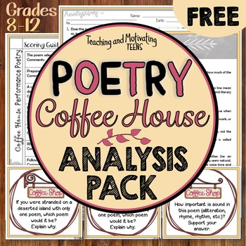 Performance Poetry Coffee House Resources for Analysis & DIscussion