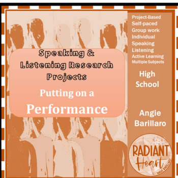 Speaking & Listening Research Project - Putting on a Performance VCAL RESOURCES
