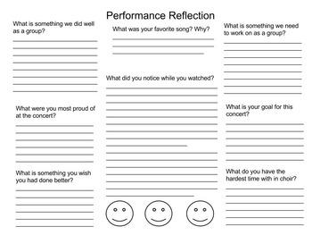 Performance Reflection