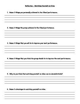 Performance Reflection Questions