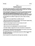 Performance Review Assignment with Bonus Theatre Etiquette